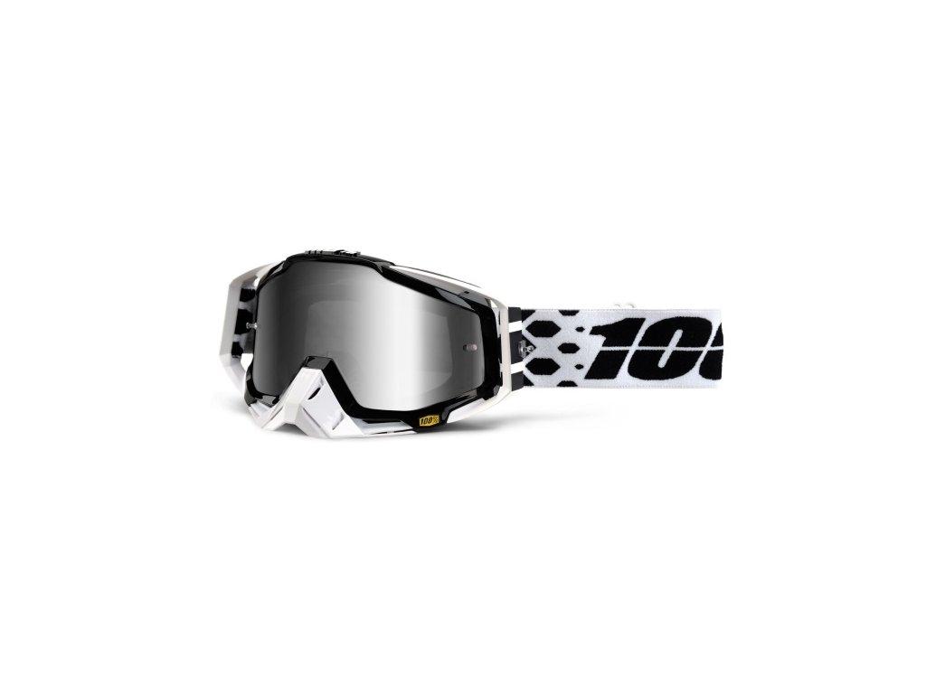 masque moto cross 100 racecraft legacy noir blanc iridium 1