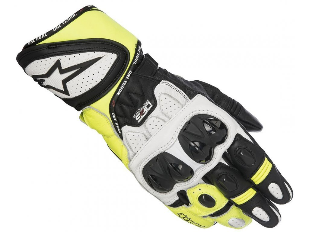 moto rukavice ALPINESTARS GP PLUS R WHITE FLUO - Moto-man.cz fa00b430cb