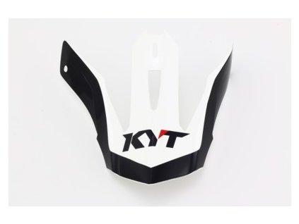 náhradní kšilt KYT PEAK K-MX white/red
