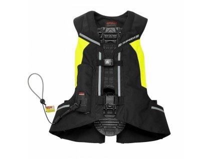 airbagová vesta SPIDI FULL DPS VEST CELOTĚLOVÁ černá/žlutá fluo