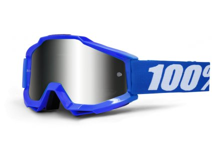 MX brýle 100% ACCURI REFLEX BLUE stříbrné plexi