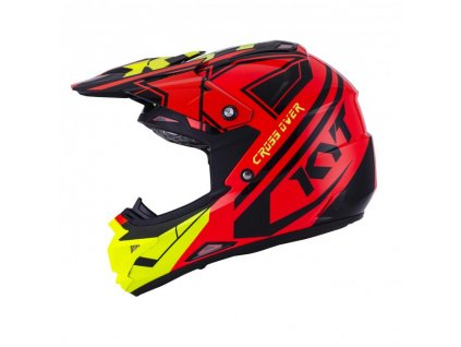 Mx helma KYT CROSS OVER red yellow fluo