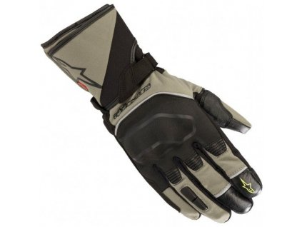 alpinestars andes touring outdry military green black gloves~705286