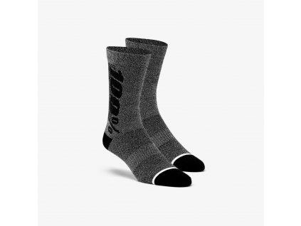 ponožky zateplené RYTHYM MERINO VLNA 100% šedé