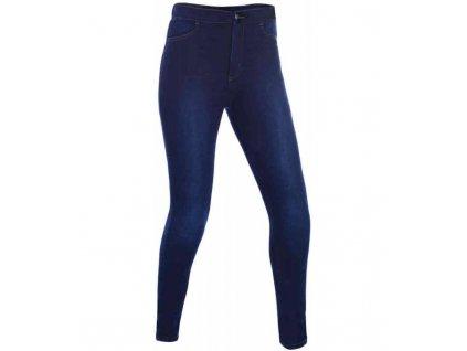 kalhoty jeggings oxford damske leginy s kevlar podsivkou modre indigo