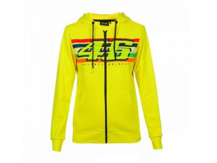 Dámská mikina Valentino Rossi VR46 STRIPES Fleece žlutá 352701