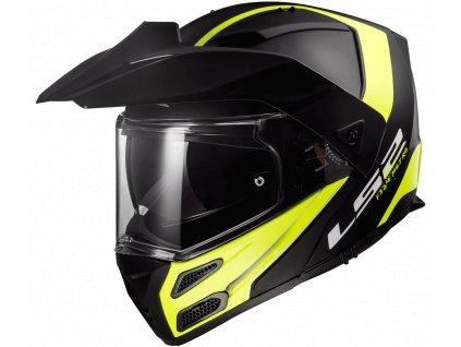 moto helma LS2 FF324 METRO EVO RAPID Matt Black H-V Yellow