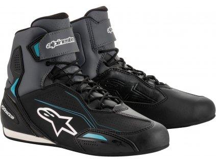 moto boty ALPINESTARS FASTERS 3 STELLA (černé/šedé/modré) 1