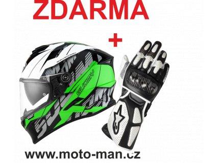 moto helma suomy stellar corner green