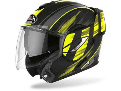 moto helma AIROH REV19 IKON model2020 reflex yellow