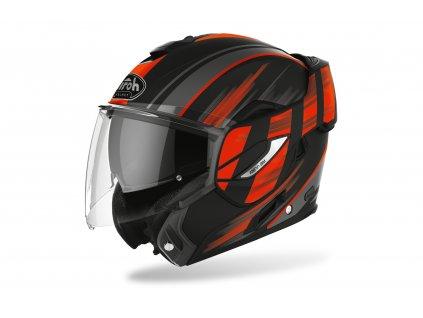 moto přilba AIROH REV 19 IKON černá/oranžová matná