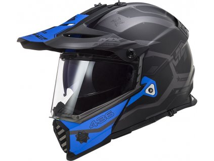 mx436 pioneer evo cobra matt black blue 404362927