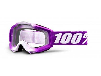 MX brýle 100% ACCURI Framboise dětské čiré plexi