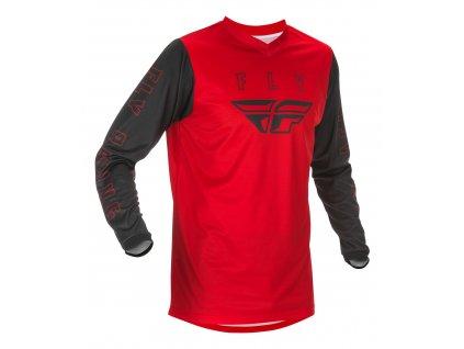 dres FLY RACING F-16 2021 dětský červená/černá