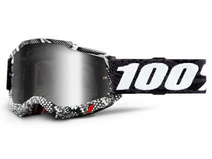 MX brýle 100% ACCURI 2 Cobra - zrcadlové stříbrné plexi