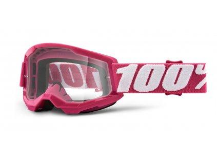 dětské MX brýle 100% STRATA 2 Fletcher - čiré plexi
