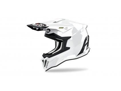 MX helma AIROH STRIKER Color lesklá bílá