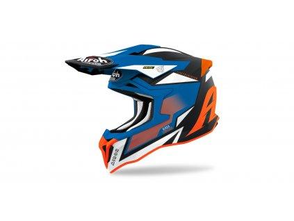 MX helma AIROH STRIKER Axe matná oranžová/modrá
