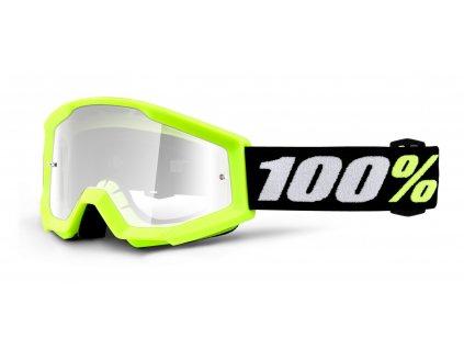 brýle 100% Strata MINI dětské, žlutá - čiré plexi