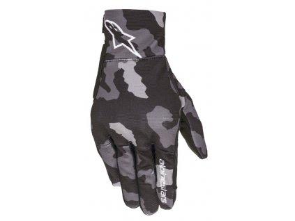 rukavice ALPINESTARS REEF dětské černá/šedá camo