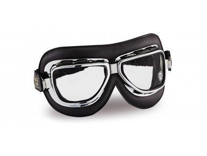 moto brýle CLIMAX Vintage 510, čirá skla