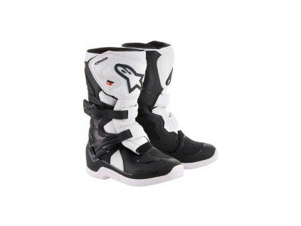 dětské MX boty ALPINESTARS TECH 3S KIDS 2021 černé/bílé