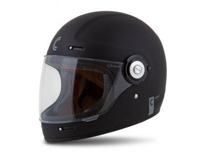 moto přilba CASSIDA Fibre černá matná