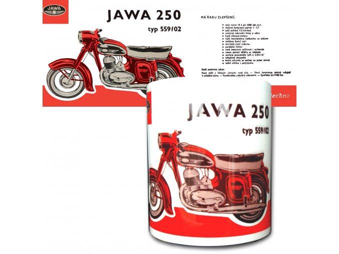 Jawa 250 červená