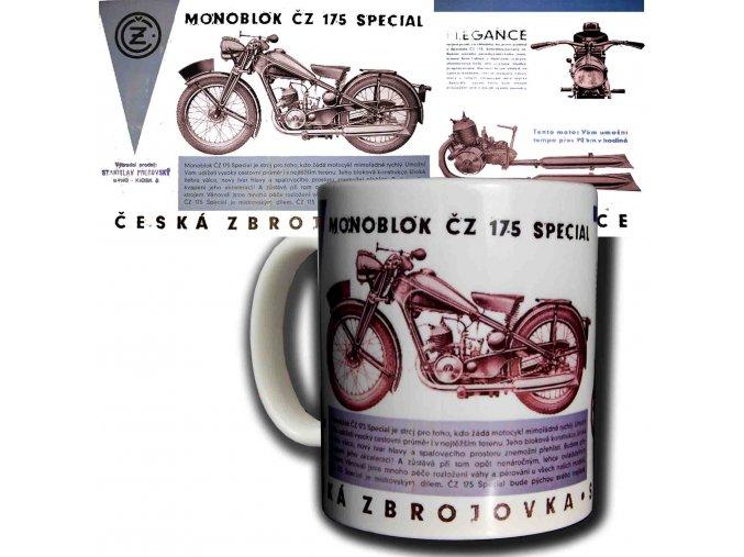 Moto hrnek ČZ 175 Monoblok SPECIAL kopie