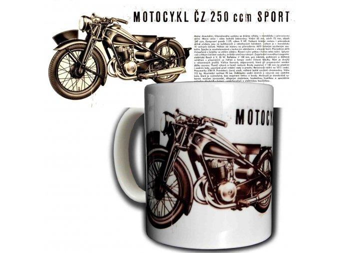 Moto hrnek ČZ 250 sport kopie