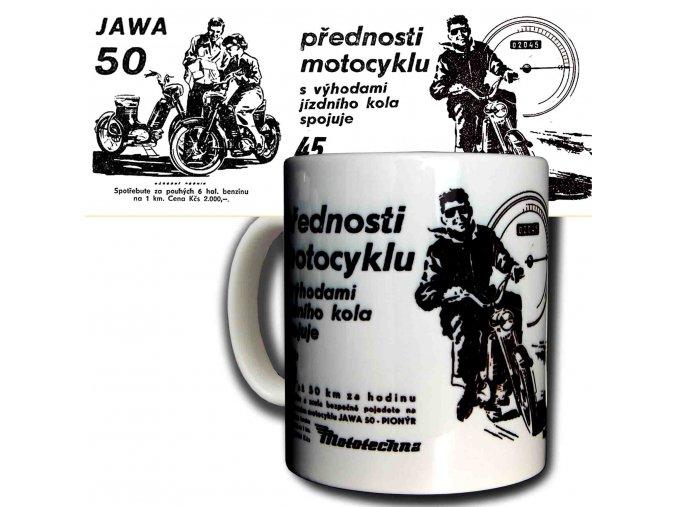 Moto hrnek Jawa 50 kopie