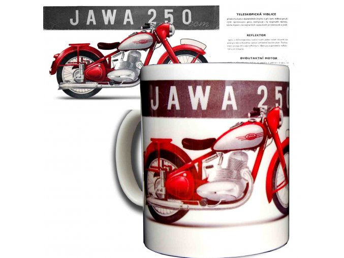 Moto hrnek Jawa 250 Pérák kopie
