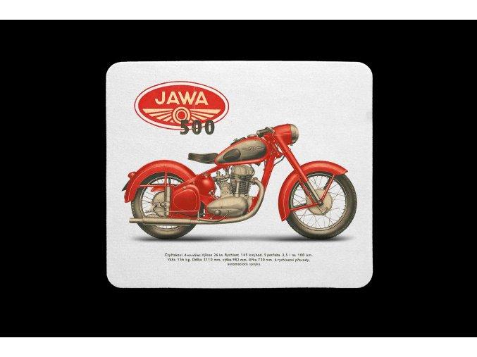 Jawa 500 čb červená kopie