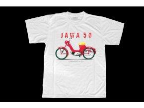 Triko s potiskem motocyklu Jawa 50 550 Pařez