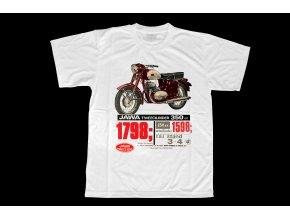 Triko s potiskem motocyklu Jawa 350 kývačka Tweencilinder