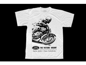 Triko s potiskem motocyklu Jawa závodník