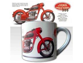 Malý hrnek s potiskem motocyklu Jawa 500 OHC