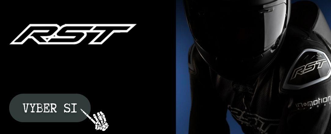 Kombinézy RST, motobundy, motorukavice, motokalhoty