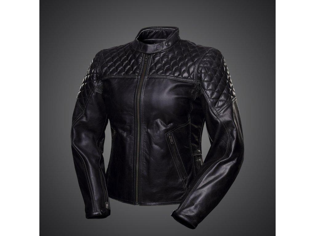 Kožená dámská bunda 4SR Scrambler Lady Petroleum black - MOTOJOMAX ... e2939ba982f