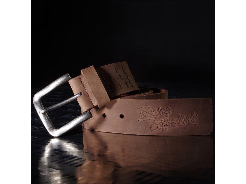 Kožený pásek 4SR Racing Syndicate brown