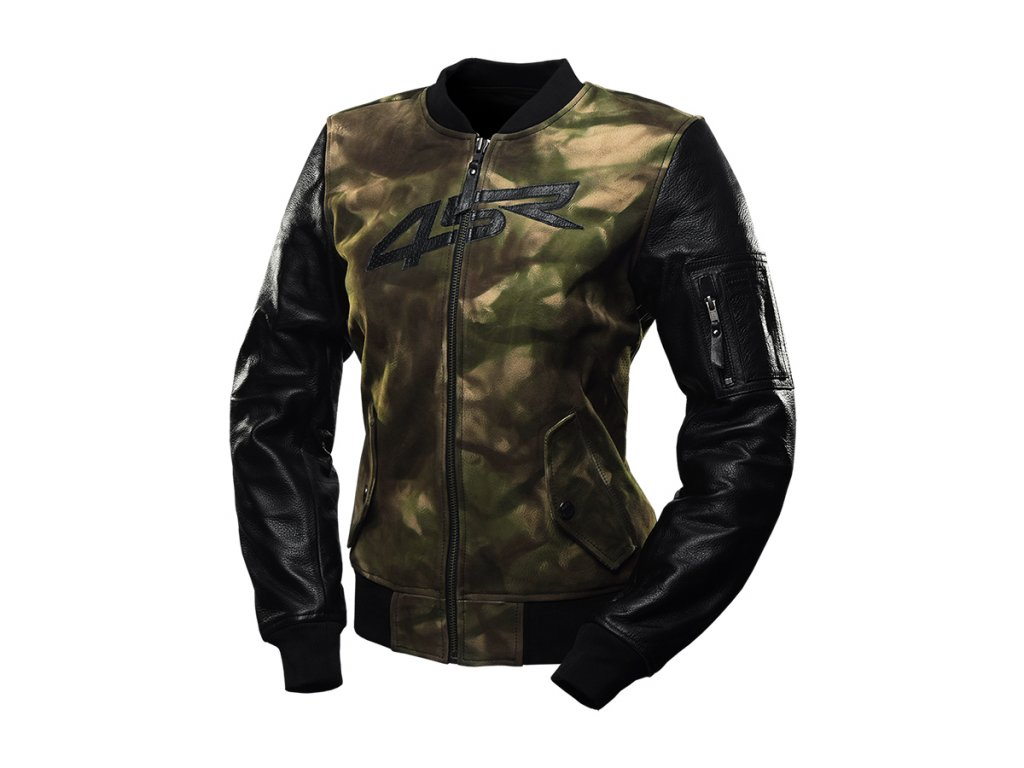 bunda na motorku 4SR Bomber Lady Camo jacket 1