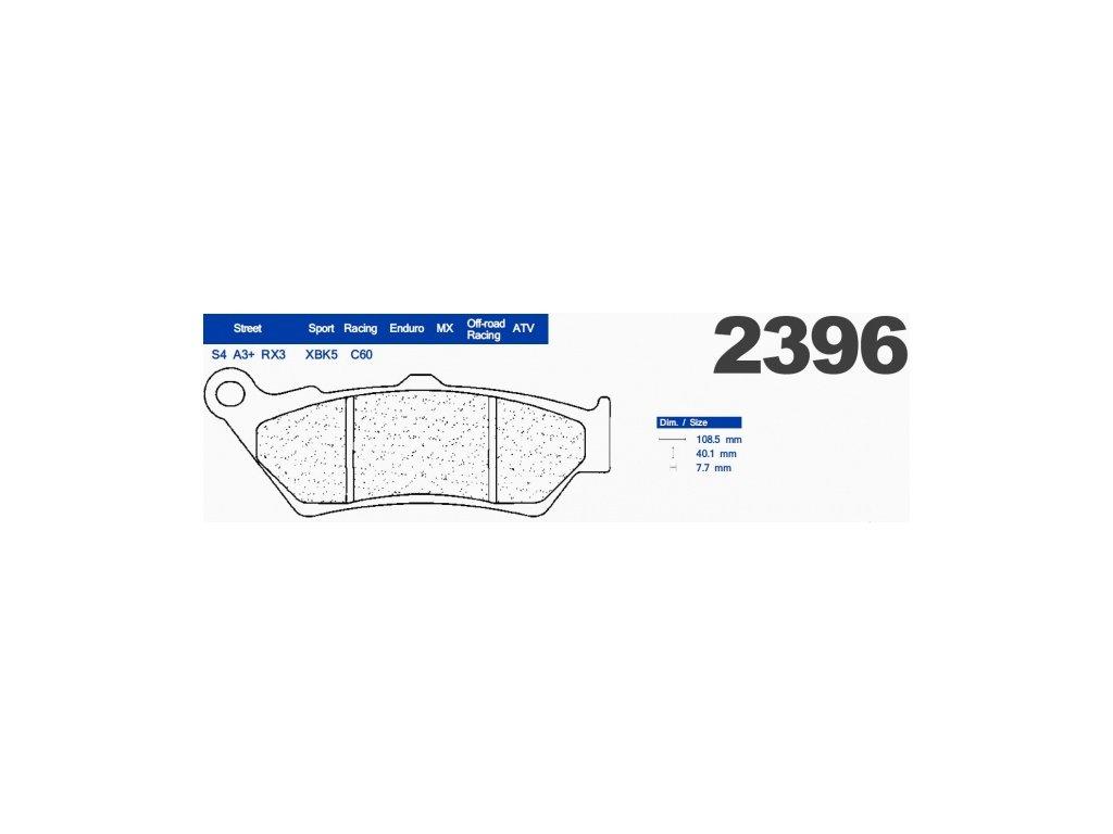 Brzdové destičky CL BRAKES A3+ 2396