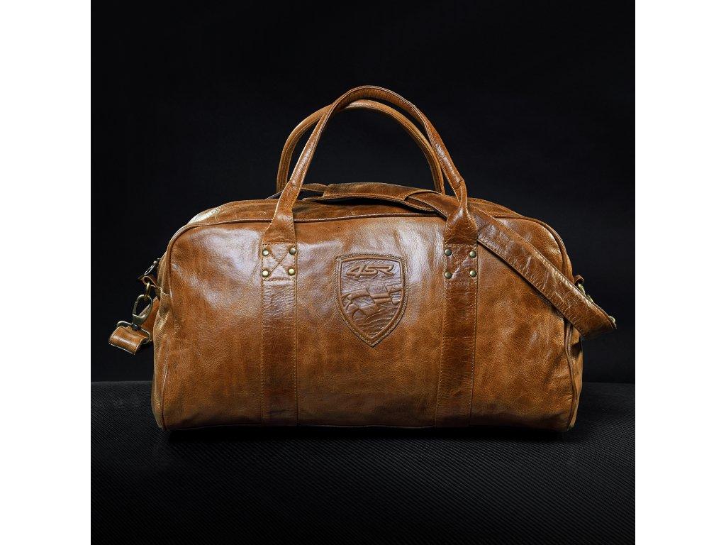 Kožená cestovní taška 4SR Cognac - MOTOJOMAX ae38a165eba