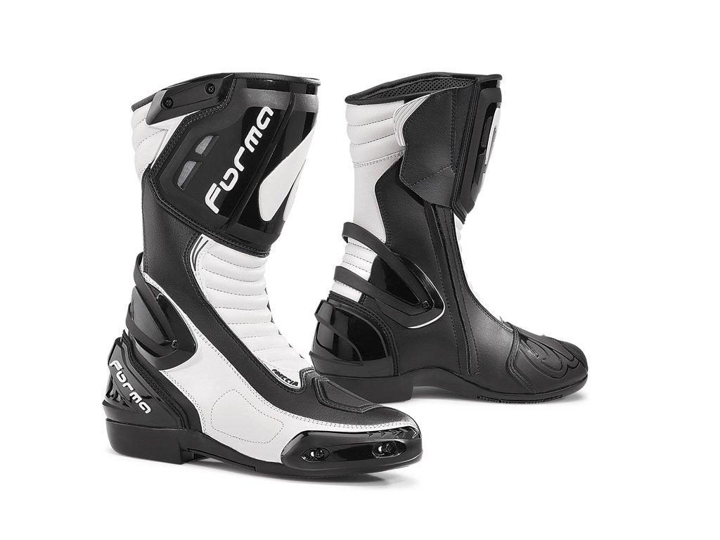 motocyklové boty forma freccia bw black white