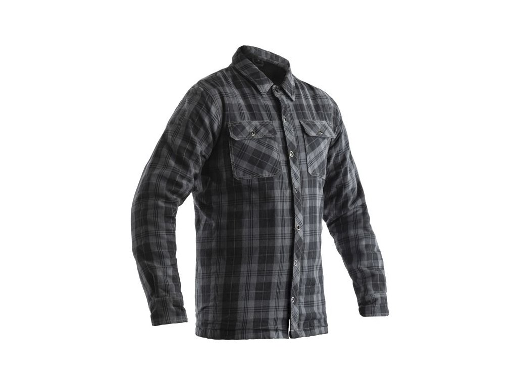 košile na motorku 2115 lumberjack shirt gry 01