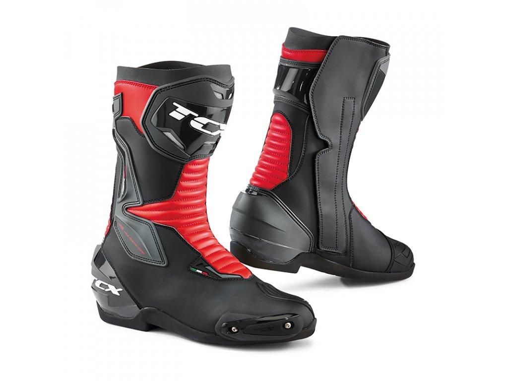 motocyklové boty sp master black red