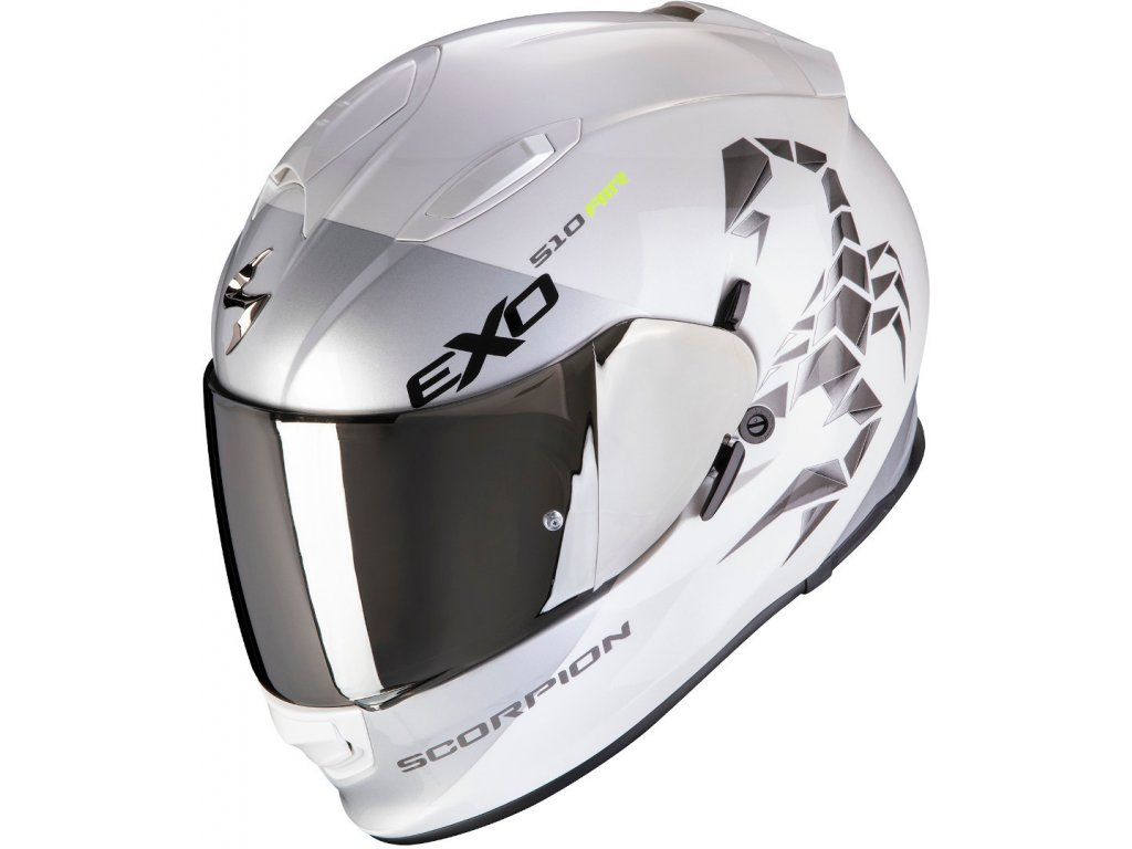 Prilba Scorpion EXO 510 AIR PIQUE white silver
