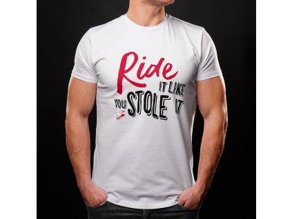 tričko 4sr ride white (1)
