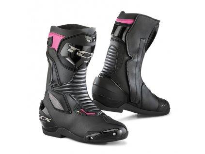 motocyklové boty sp master lady black pink