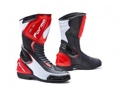 motocyklové boty forma freccia bwr red white